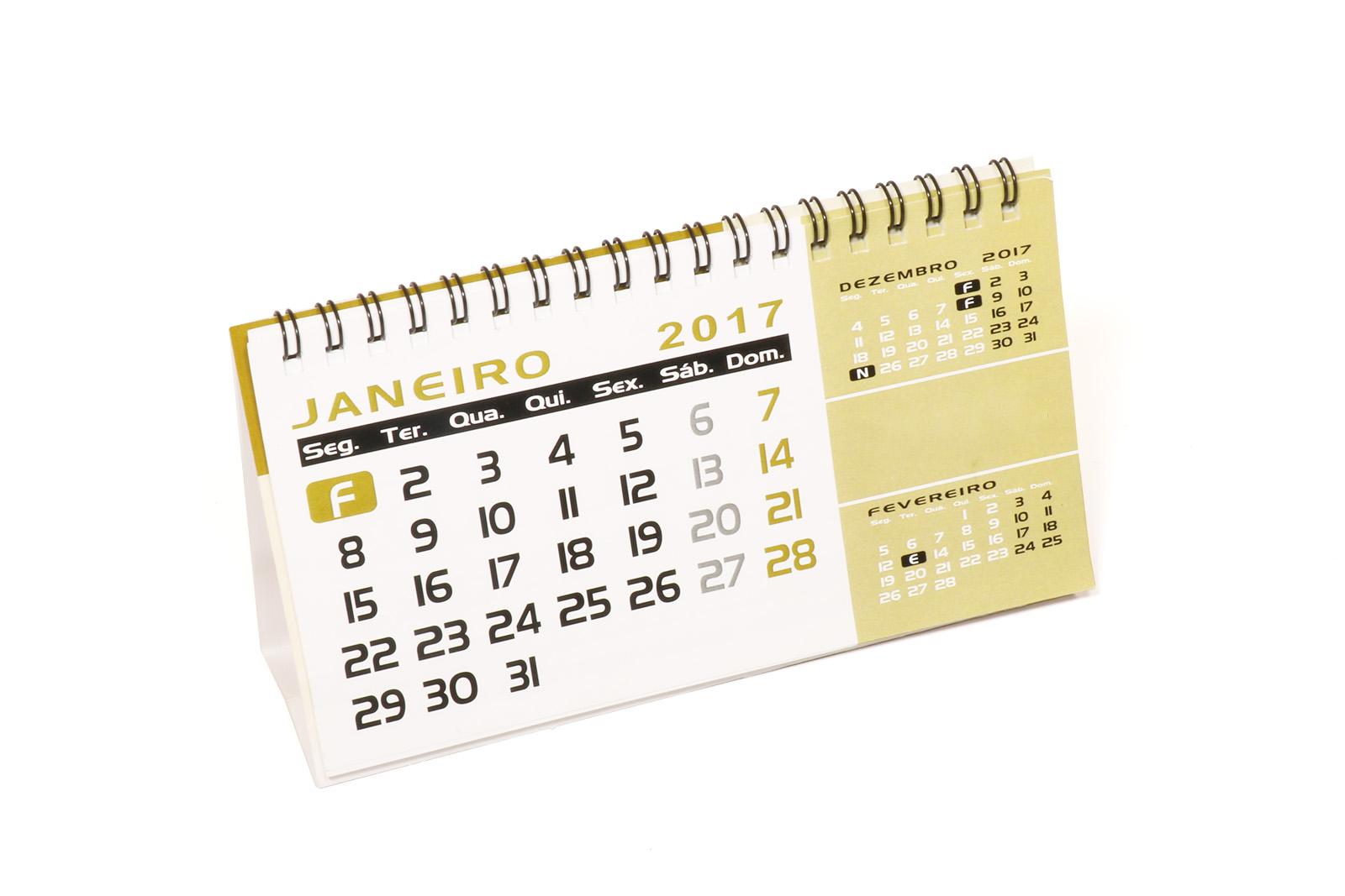 Calendários de parede e de mesa
