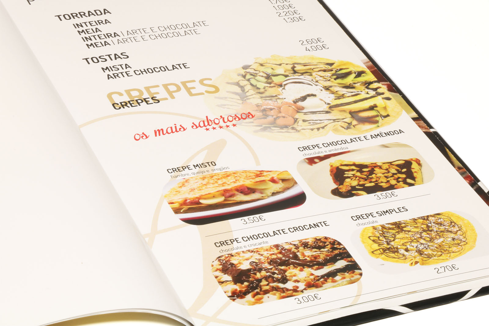 carta-menu aberta